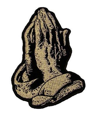 PRAYING HANDS RELIGIOUS PATCH CHRISTIAN GOD JESUS INSPIRATIONAL CHURCH PRAYER