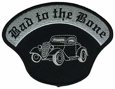 BAD TO THE BONE W/ HOT ROD PATCH CLASSIC CAR ENTHUSIAST REBEL