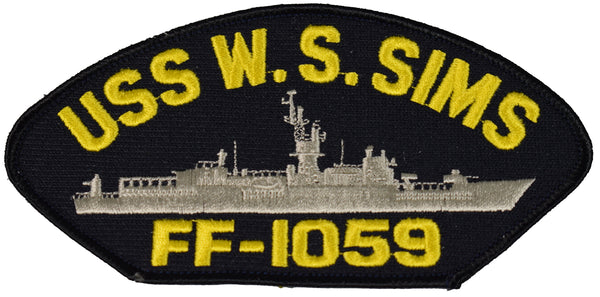 USS W.S. SIMS FF-1059 SHIP PATCH - GREAT COLOR - Veteran Owned Business