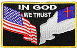 IN GOD WE TRUST W/ FLAGS PATCH - Color - Veteran Owned Business.