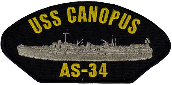 USS CANOPUS AS-34 Patch.  - Found per customer request! Ask Us!