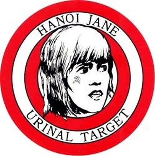 Hanoi Jane Urinal Target Stickers (5 per package) - 4 1/2 inch - HATNPATCH