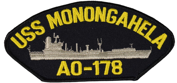 USS MONONGAHELA AO-178 SHIP PATCH - GREAT COLOR - Veteran Owned Business