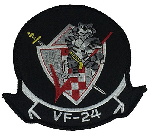 "FIGHTER SQUADRON VF-24 ""FIGHTING RENEGADES"" CRUISE JACKET PATCH - Great Standout Coloring - Veteran Owned Business."