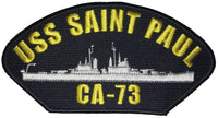USS Saint Paul CA-73 PATCH USN NAVY SHIP HEAVY CRUISER PORTLAND CLASS - CUSTOMER REQUESTED