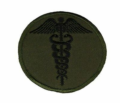 MEDICAL CADUCEUS PATCH OD OLIVE DRAB GREEN MEDIC DOC CORPSMAN EMT PARAMEDIC