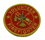 VOLUNTEER FIREFIGHTER PATCH AX HAT LADDER EMERGENCY SERVICES FIRST 1ST RESPONDER