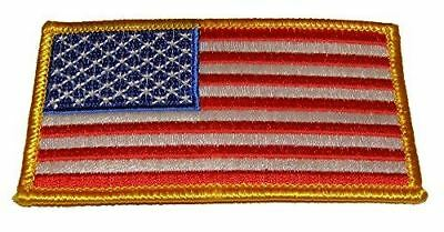 US AMERICAN FLAG PATCH RIGHT FACING STARS STRIPES PATRIOTIC RED WHITE BLUE - HATNPATCH