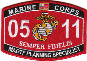 US Marine Corps 0511 Marine Air Ground Task Force Plan MOS Patch - HATNPATCH