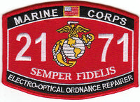 US Marine Corps 2171 Electro-Optical Ordnance Repairer MOS Patch - HATNPATCH