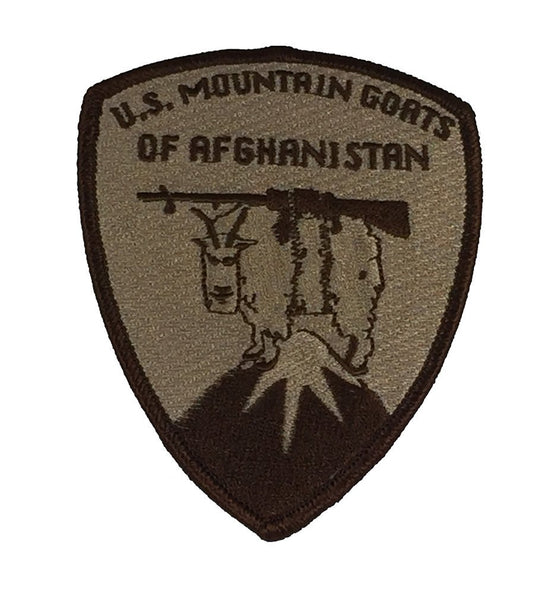 U.S. MOUNTAIN GOATS OF AFGHANISTAN PATCH - Desert/Tan - HATNPATCH