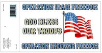 OIF OEF GOD BLESS OUR TROOPS DECAL