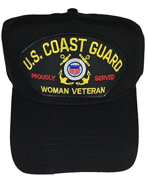 US COAST GUARD WOMAN VETERAN HAT