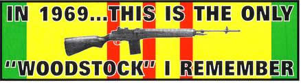 The Woodstock I Remember Bumper Sticker