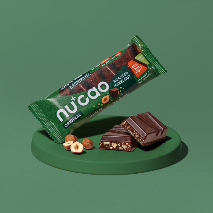NUCAO ROASTED HAZELNUT - ORGANIC VEGAN CHOCOLATE