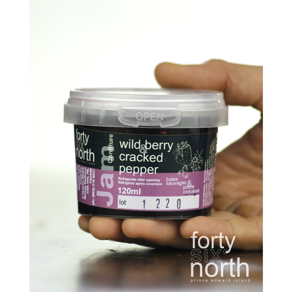 46°N - Jam - Wildberry & Cracked Pepper - 120ml