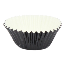Load image into Gallery viewer, Mini Black Paper/Foil Cupcake Liners