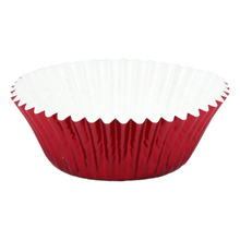 Load image into Gallery viewer, Medium Red Paper/Foil Cupcake Liners