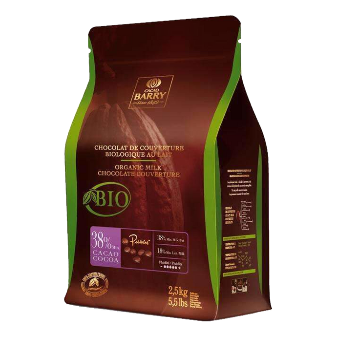 Cacao Barry Milk Couverture Organic 38%