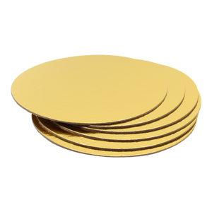 Cake Boards Gold Round 8-Inch
