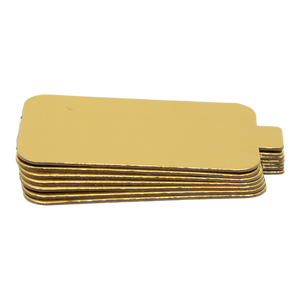 Cake Boards Gold Rectangular Mono Portion