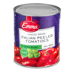 Italian Peeled Tomatoes with Basil 100oz
