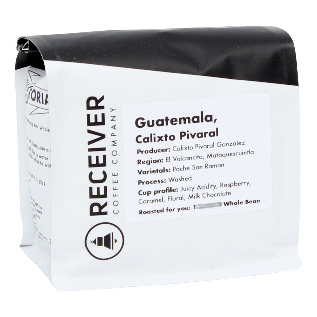 Receiver Coffee Guatemala Calixto Pivaral