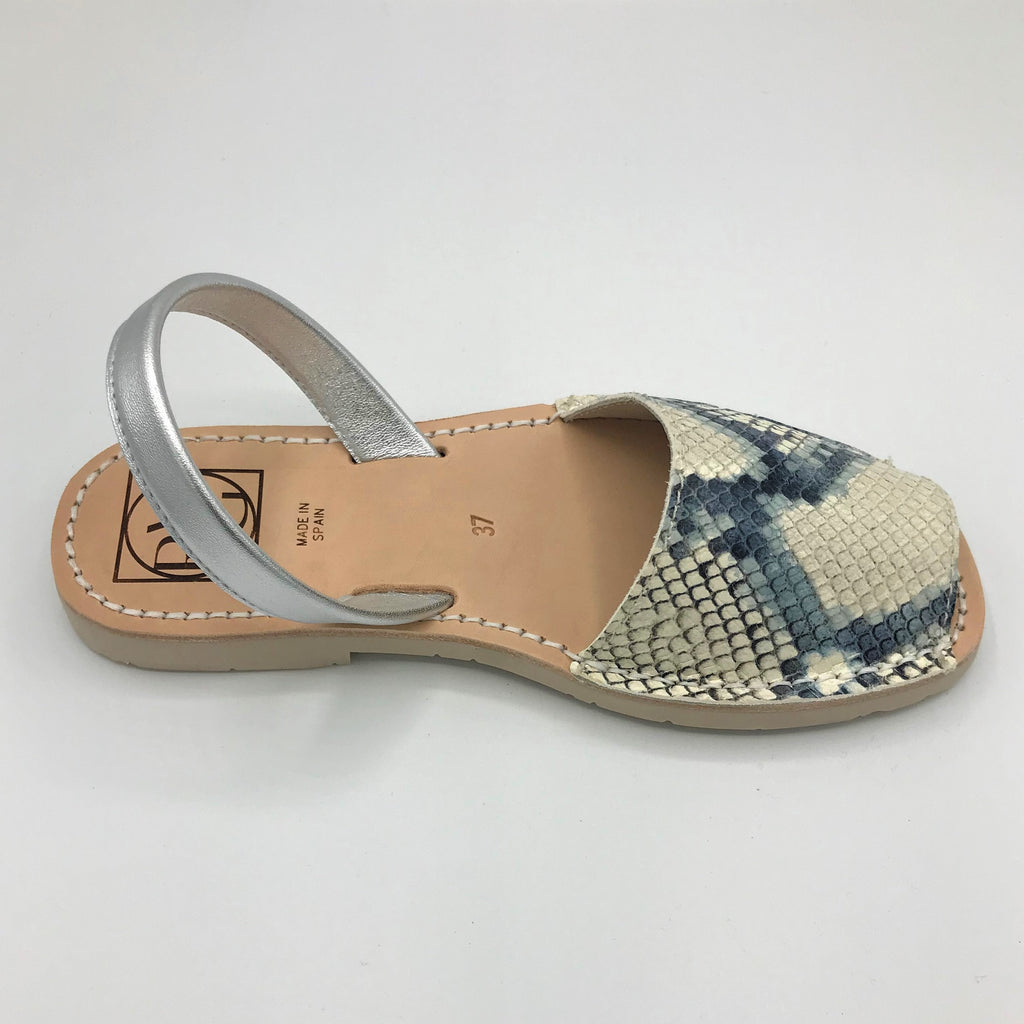 Snakeskin look leather sandal from RGV Styled