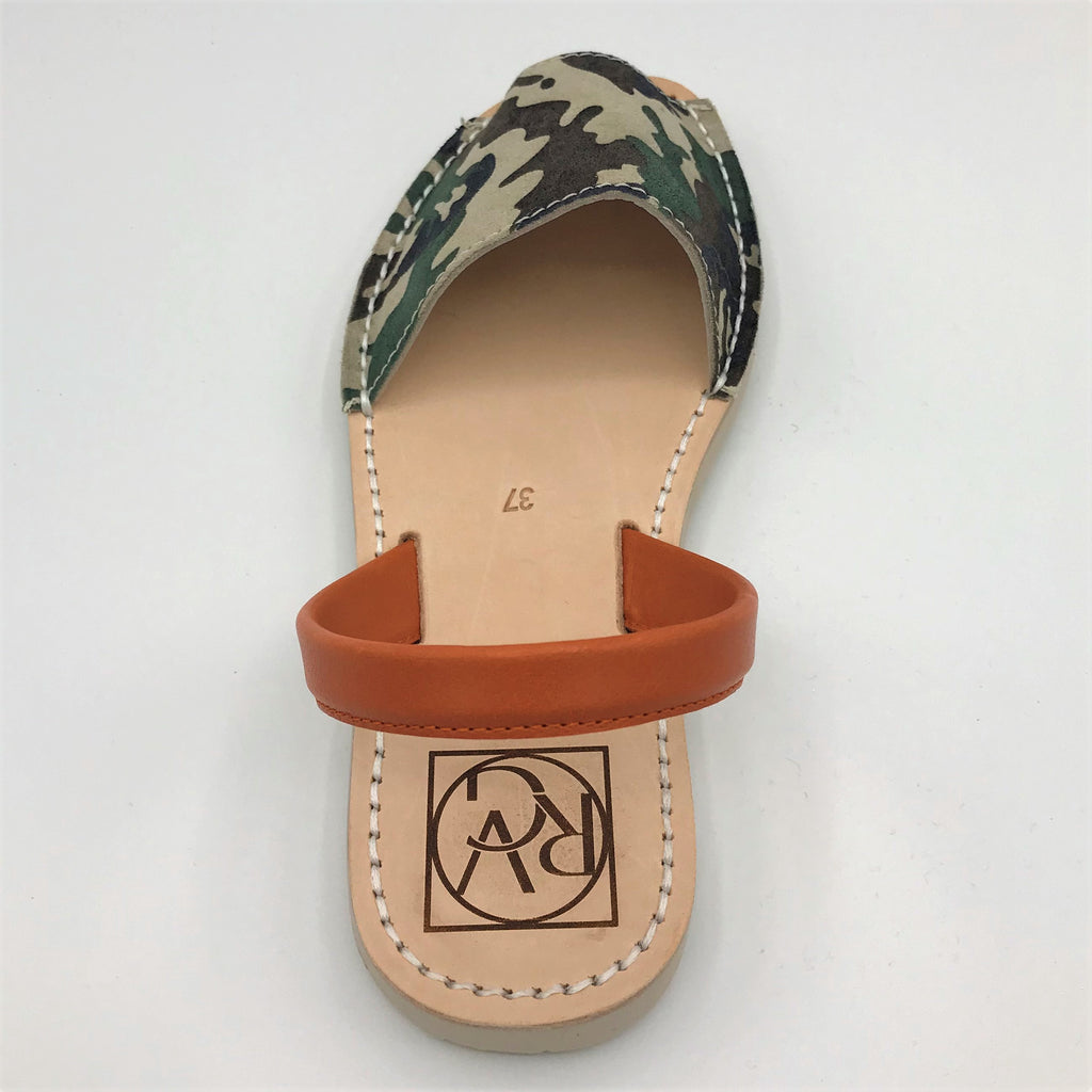 Camo leather sandal from RGV Styled