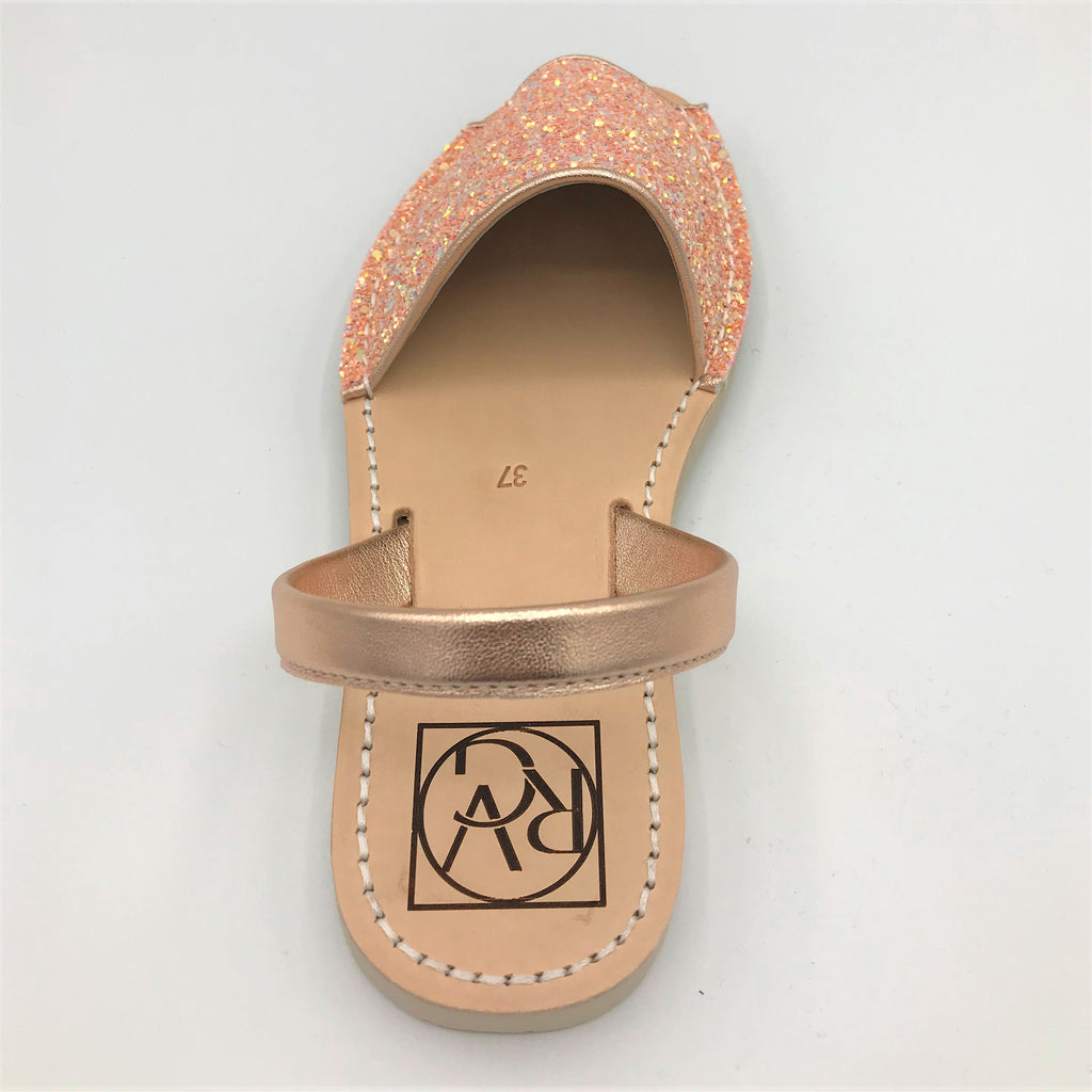 Pink glitter leather sandal from RGV Styled