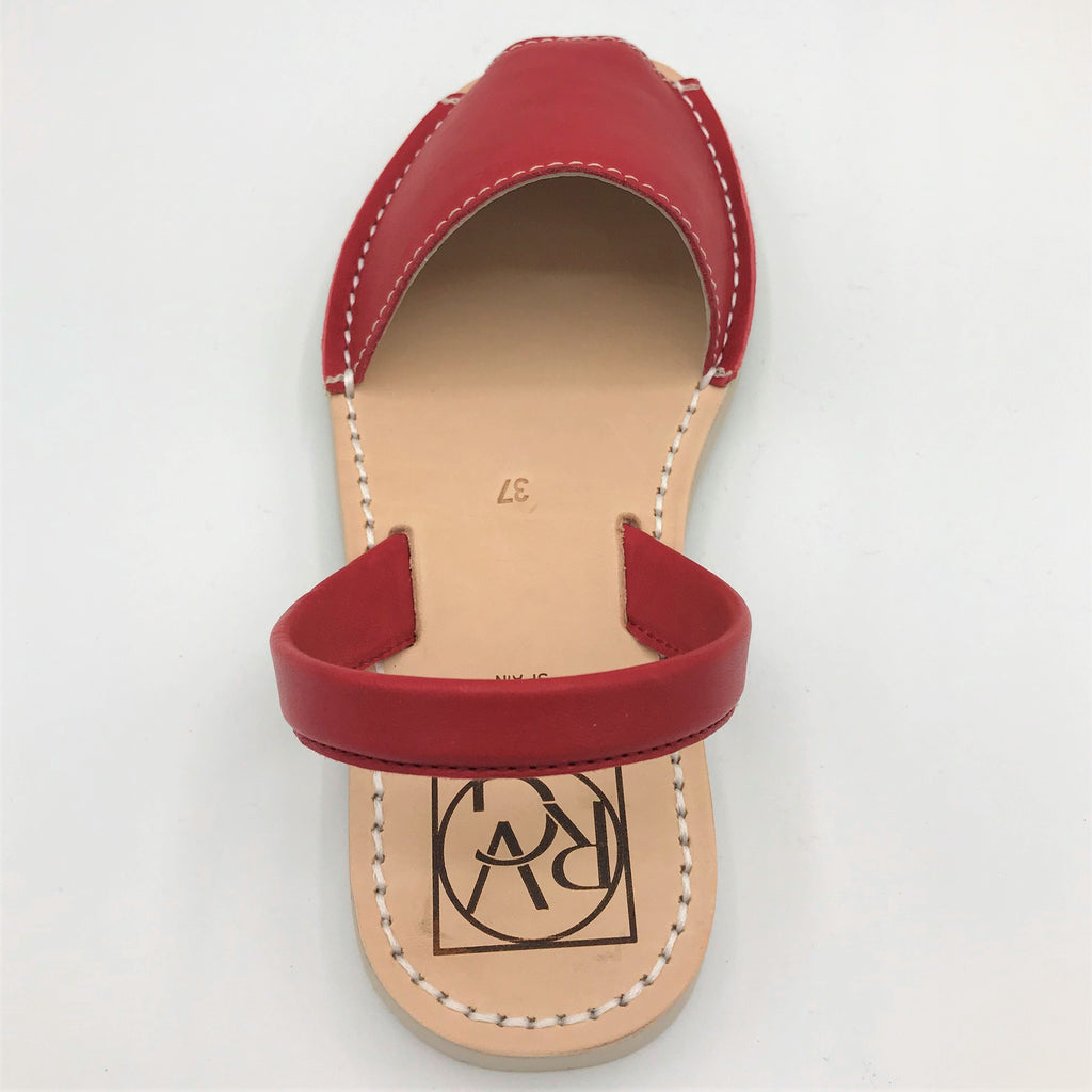 Red leather sandal from RGV Styled