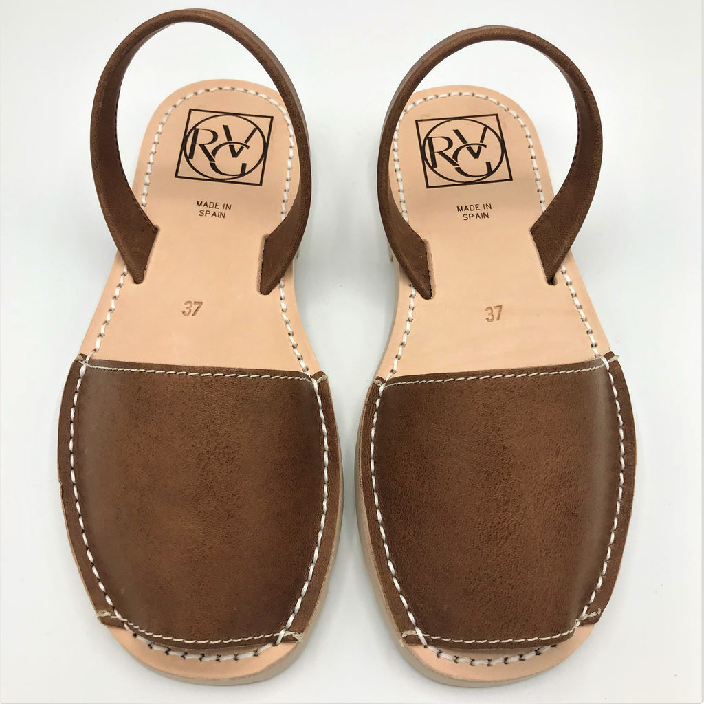 Tan leather sandal from RGV Styled