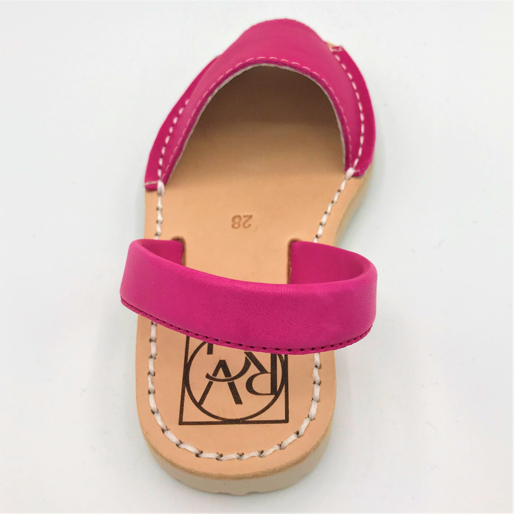 Hot Pink leather kids sandal from RGV Styled