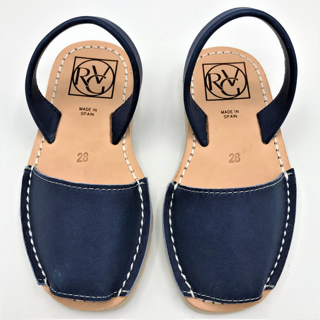 Blue leather kids sandal from RGV Styled