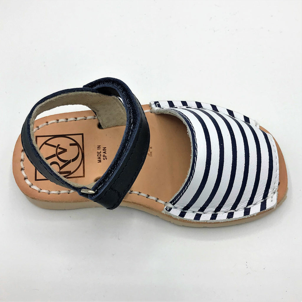 Blue and White striped leather kids sandal from RGV Styled