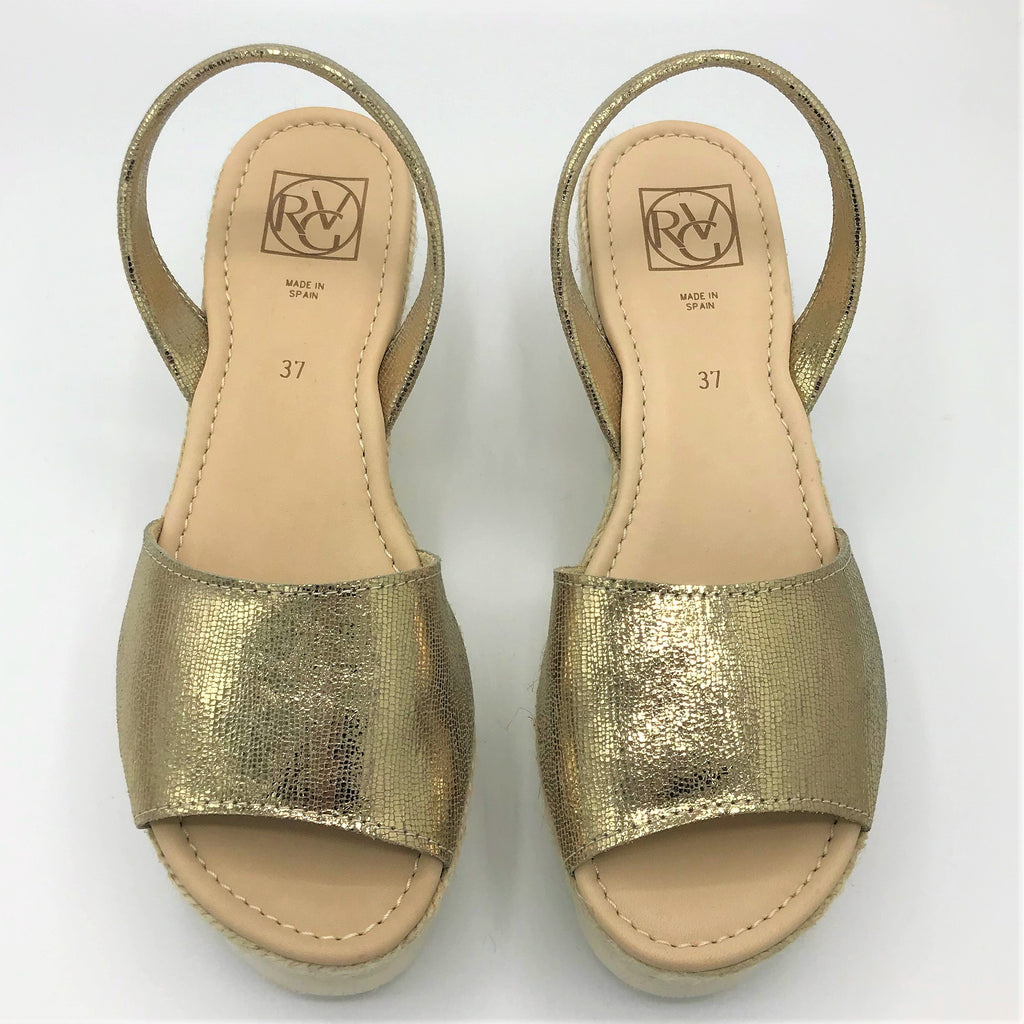 Metallic Gold leather wedge from RGV Styled