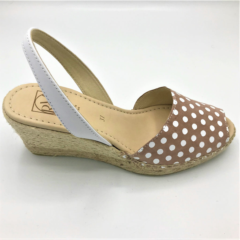 Polka Dot leather sandal from RGV Styled