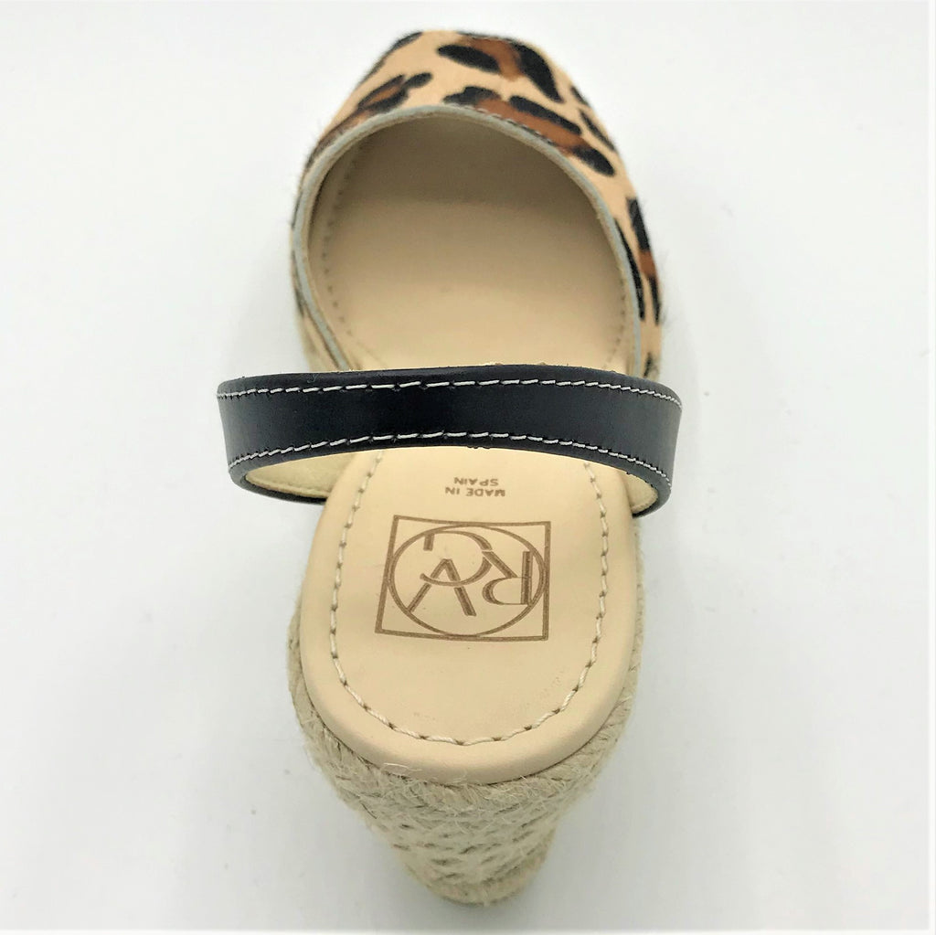 Leopard Print Hide Wedge Sandal from RGV Styled