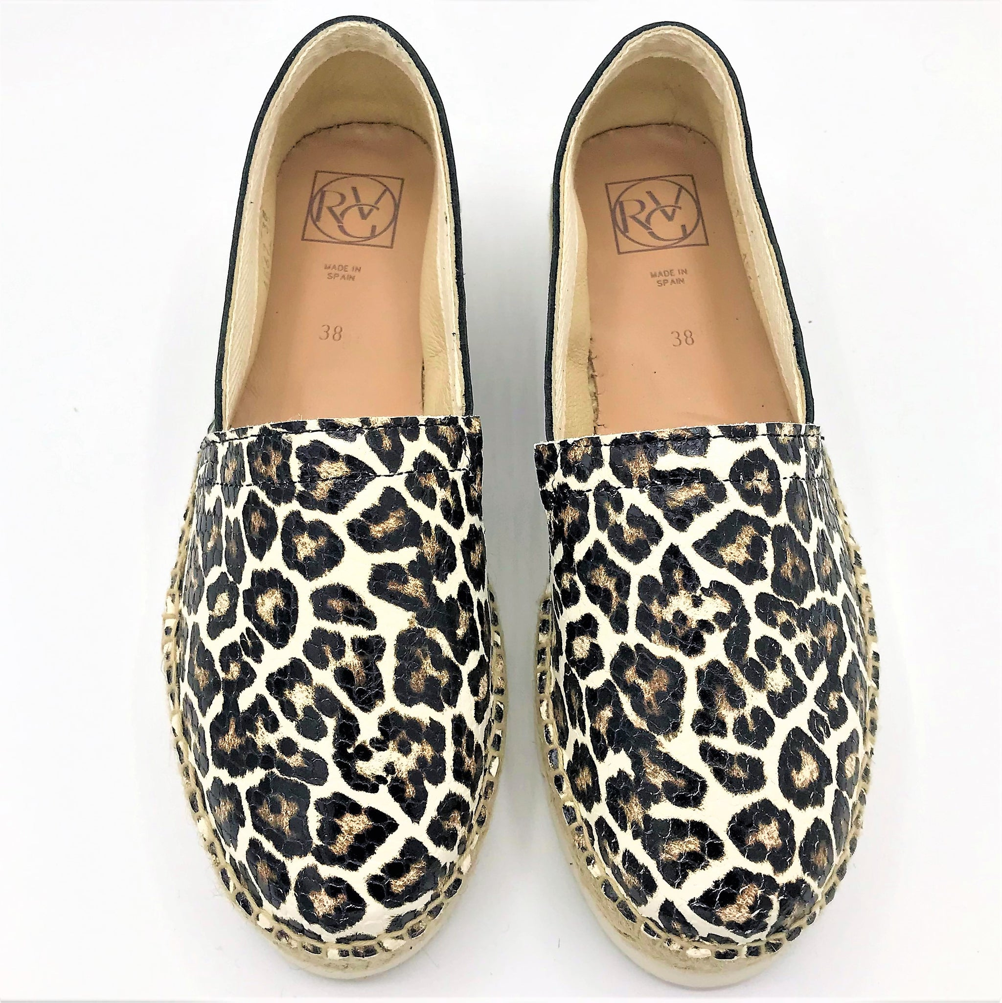 Leopard Print Leather Espadrille from RGV Styled