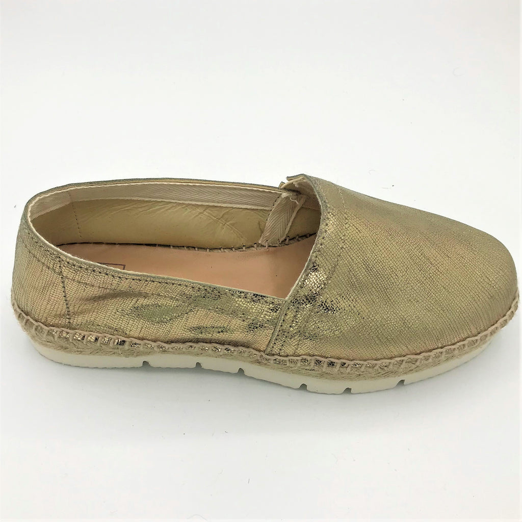 Metallic Gold leather espadrille from RGV Styled