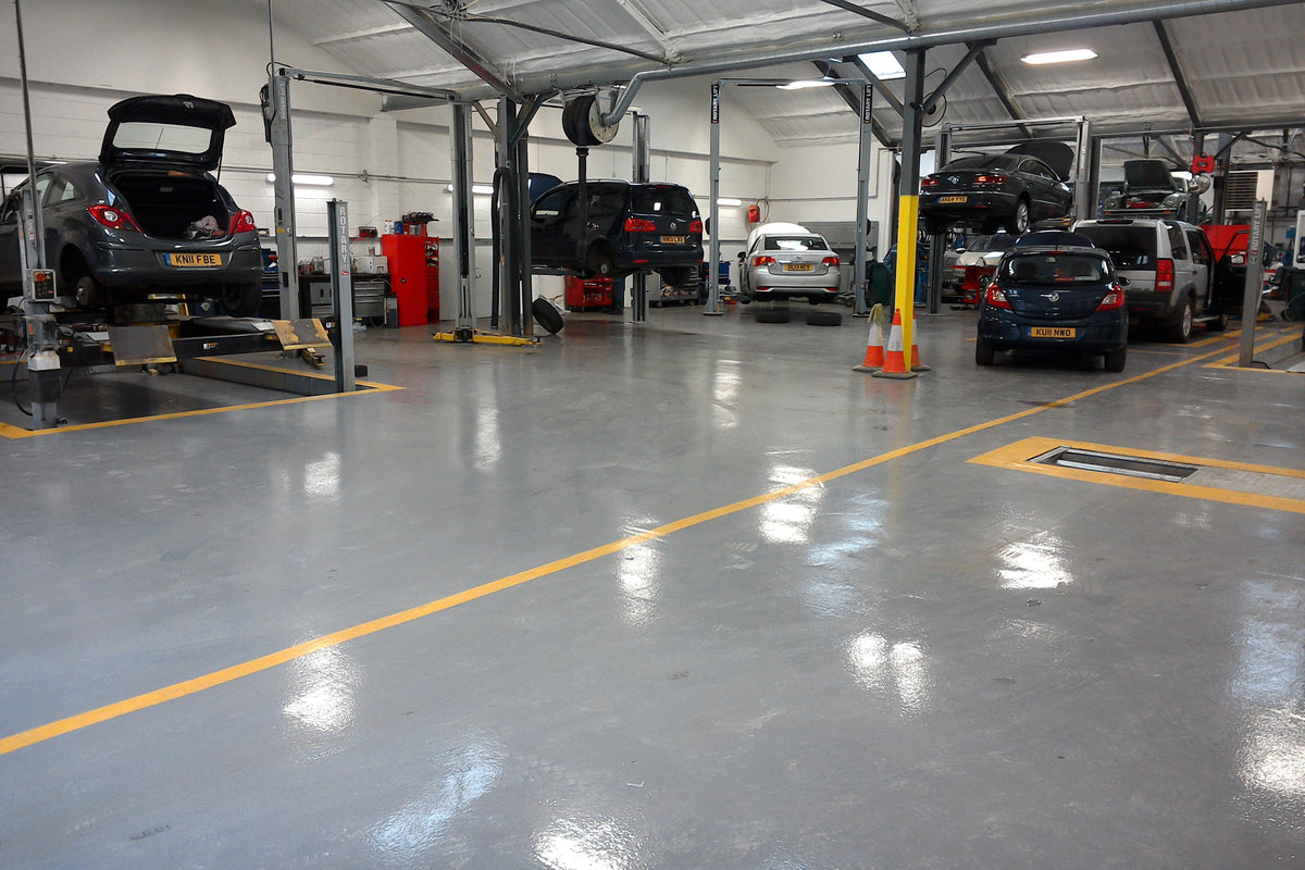 High Build Garage Floor Paint - Fast Set