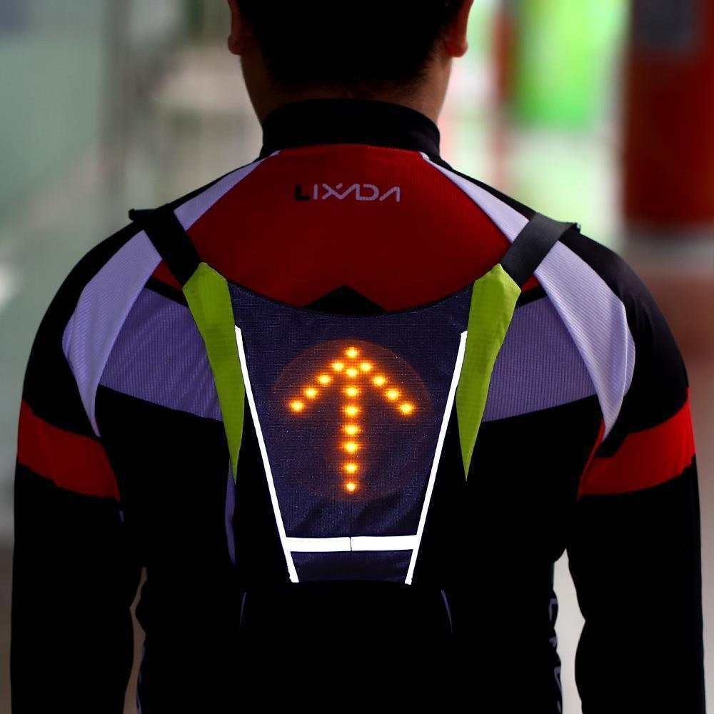 Bicycle Light Practical Bicycle Backbag Led Wireless Cycling Vest Safety Bag Led Turn Signal Light Bike Bag Vest Bicycle Reflective Warning Vests Back To Search Resultssports & Entertainment