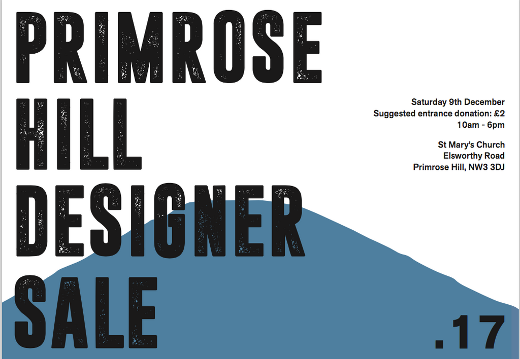 Our next Christmas event - Primrose Hill Designer Sale 9th December 2017.