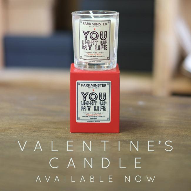New & Exclusive - Bluebell Scented Valentines Candle Available Now