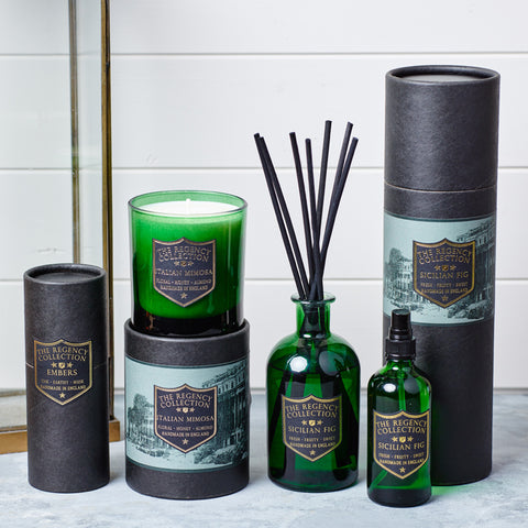 the Regency Collection by Parkminster - Luxury Scented Candles, Reed Diffusers and Room Spray produced using premium natural fragrance oils
