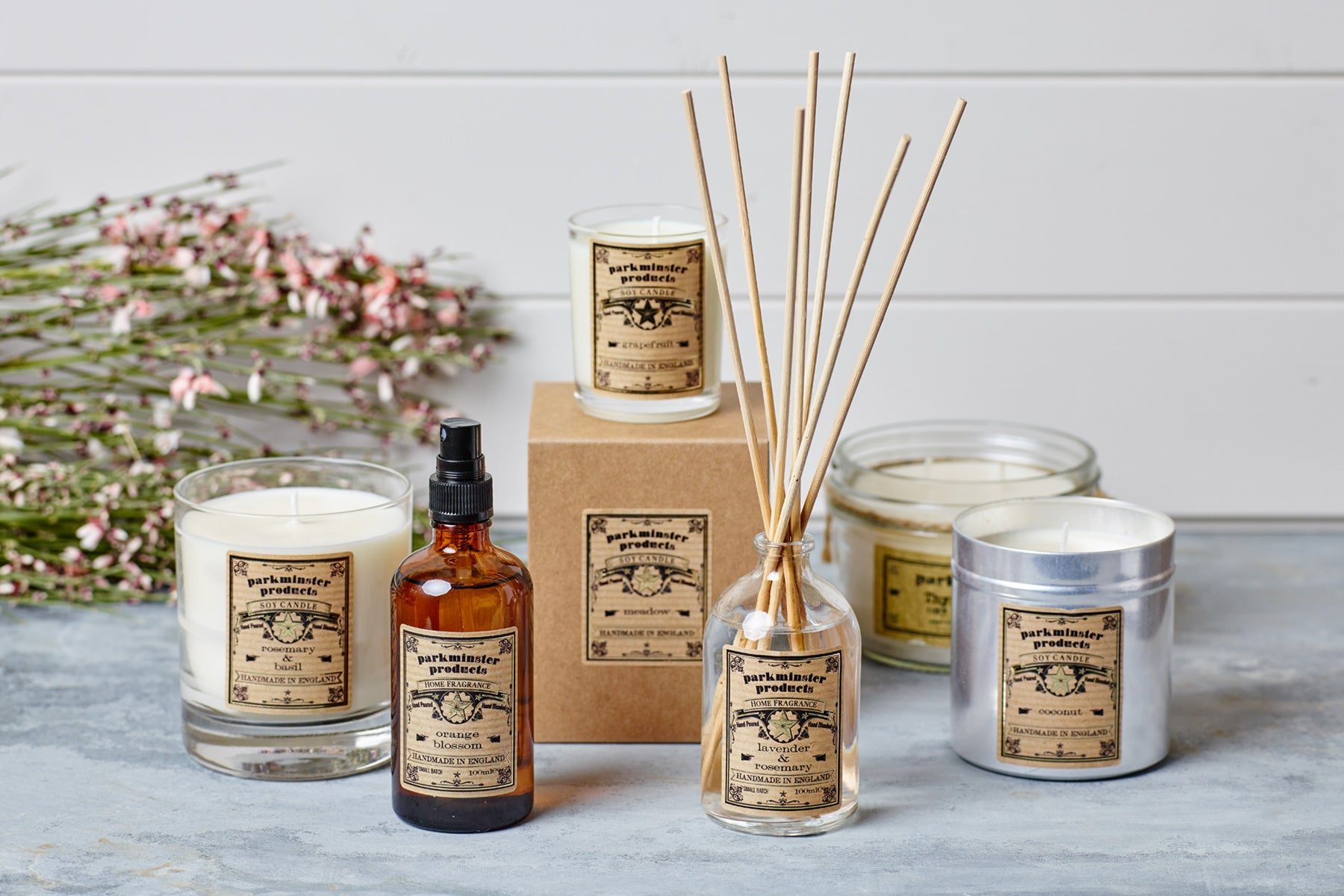 Parkminster Products - Scented Candles Room Sprays Reed Diffusers and Soaps - Star Collection
