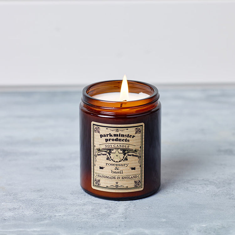 Parkminster Apothecary Collection - Natural Scented Candle - Screw Top Glass Soy Wax Candle with Essential Oils