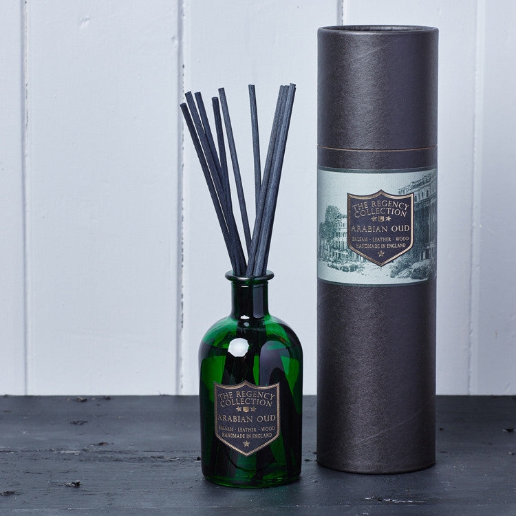 Arabian Oud Reed Diffuser - Regency Collection - Beautifully Scented Candles, Reed Diffusers for your home or office - Parkminster Products - Beautifully Scented Gifts for the Home