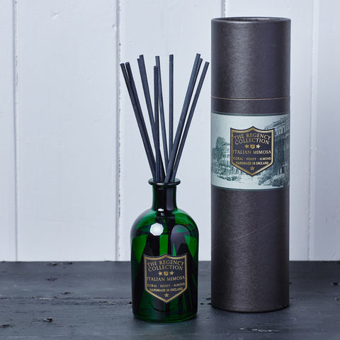 Italian Mimosa Reed Diffuser - Regency Collection - Beautifully Scented Candles, Reed Diffusers for your home or office - Parkminster Products - Beautifully Scented Gifts for the Home