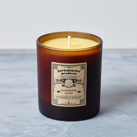 Large Mandarin Spice Scented Candle - Parkminster Products